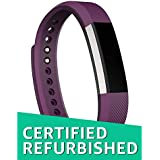 (CERTIFIED REFURBISHED) Fitbit Alta Fitness Tracker, Large (Silver/Plum)