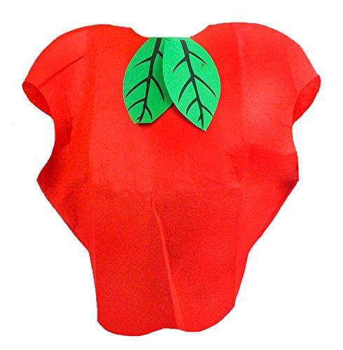Red Apple Unisex Schule Spielen oder Party Kostüm Kinder Kleidung Fruit Outfit Gr. One size, (Apple Kostüme Kind)