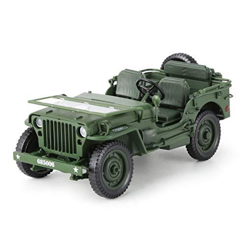 Noradtjcca Alloy Diecast 1:18 Für Jeep Military Tactics LKW Auto Modell Öffnung Hood Panels Um Den Motor Für Kinder Geschenk Spielzeug