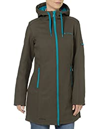 VAUDE Mantel Womens Belize Coat - Soft shell para mujer, color verde, talla 48