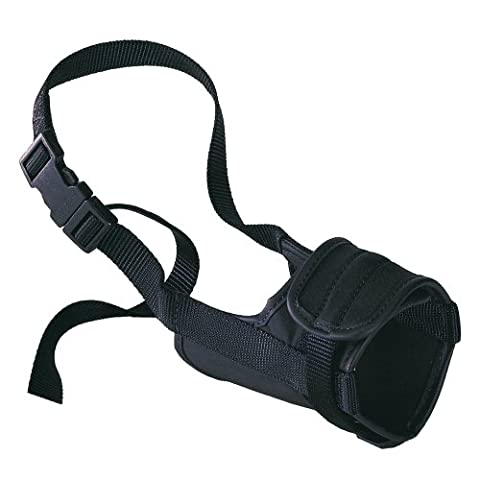 Adjustable Padded Muzzle Safe, Small, Black