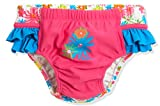 Playshoes Mädchen Badewindel Blumenmeer mit UV-Schutz Schwimmwindel, Mehrfarbig (Pink 18), 62/68