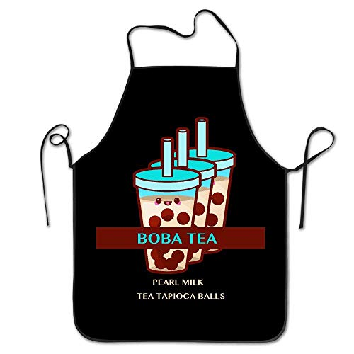 oba Pearl Milk Tea Tapioca Balls Hip Hop Women Bib Kitchen Apron Polyester Art Printing ()