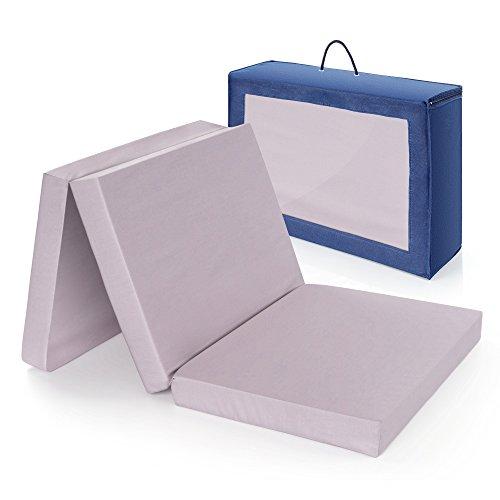 Materasso da viaggio comfort per letto da viaggio ALVI | 60 x 120 cm - Testato privo di sostanze nocivi Oeko-Tex ® Standard 100 con interno schiuma