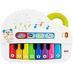 Fisher Price Mon Piano Rigolo, jouet interactif musical et lumineux avec modes de jeu apprentissage et musique, pour bébé dès 6 mois, GFK11