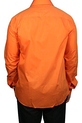 Muga chemise manches longues, Orange Orange