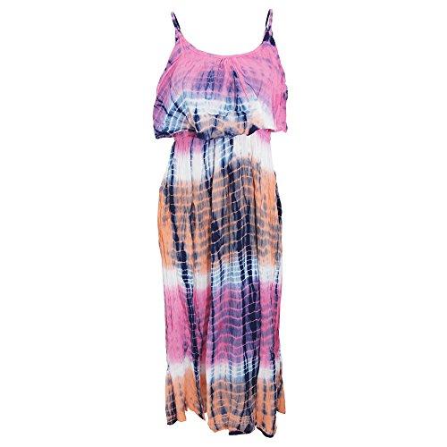 Universal Textiles Damen Maxi-Kleid mit Batik-Muster (S) (Pink/Bunt) -