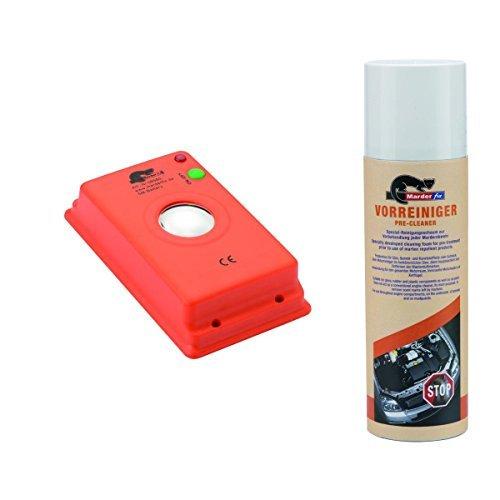 Preisvergleich Produktbild MarderFix - Akustik Batterie Inklusive Vorreiniger - Marderabwehr im Auto, Haus und Hof