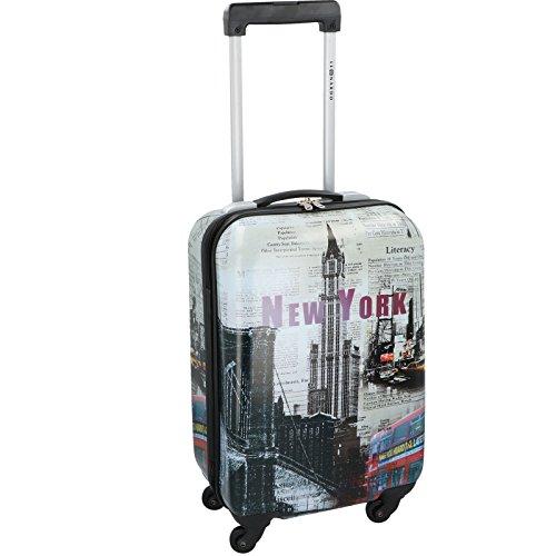 JEMIDI Handgepäck Bordcase 31,5L Flightcase Reisekoffer Reise Koffer Trolley New York