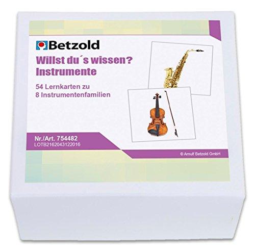 Betzold 754482 - Lernkarten Willst du´s wissen? Instrumente