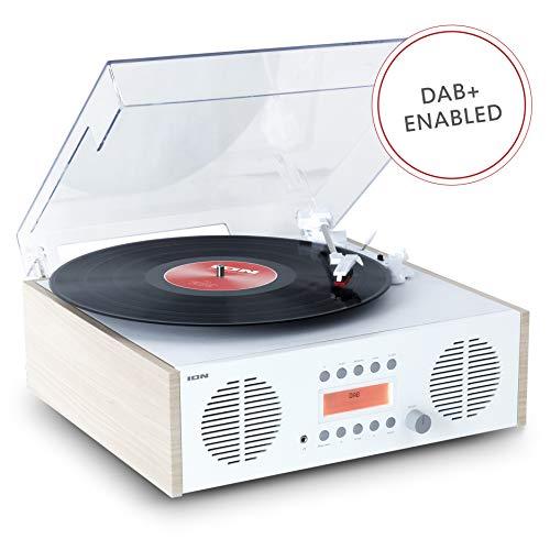 ION Audio Digital LP Impianto Stereo Vintage 4 in 1 con Giradischi, Radio DAB/FM, USB e Ingresso Aux