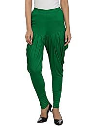 Legis Women's Viscose Dhoti Pant Green