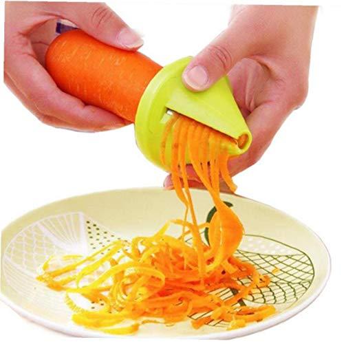 Funnel modelo en espiral Vegetable Slicer Shred Zanahoria Rábano cortador Shredded tornillo del dispositivo...