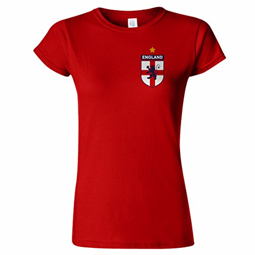England Badge Design Womens T Shirt World Football Soccer Retro Cup Brazil Unofficial - Free postage to mainland United Kingdom