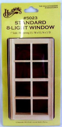 Houseworks, Ltd. Casa delle bambole Standard In Miniatura 8-luce Finestrino