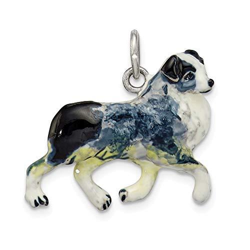 erling Silber Damen Silber Emaille Australian Shepherd Anhänger ()