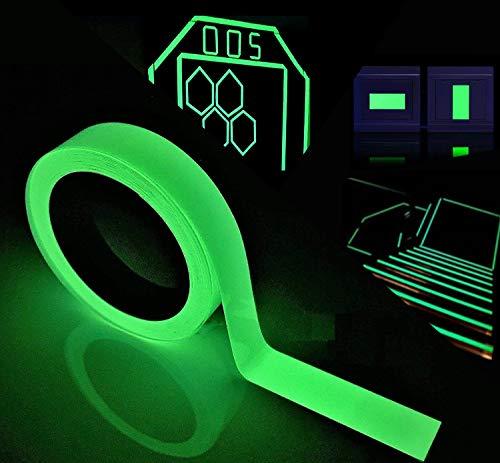 Leuchtendes Klebeband Fluoreszierendes Klebeband Markierungsband, Reastar Phosphor Klebeband Nachleuchtend Wasserdicht Luminous Tape Warnband Bühnenbedarf - 5m×20mm -