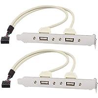 2 pezzi 2 22 Port USB 2,0 scheda madre Pannello posteriore di espansione Adattatore per presa