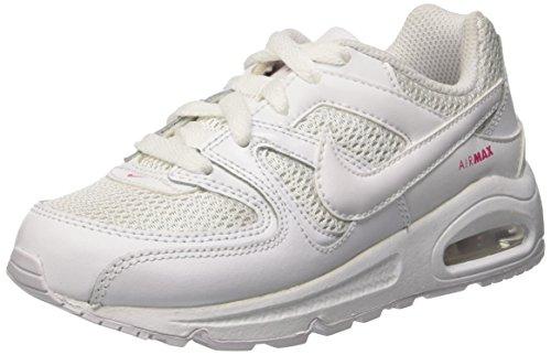 Nike Mädchen Air Max Command (Ps) Gymnastik Bianco (White/White/Dynamic Pink)