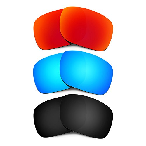 HKUCO Mens Replacement Lenses For Oakley Holbrook Red/Blue/Black Sunglasses