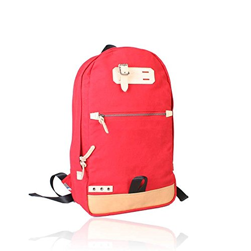&ZHOU couplre borsa tela grande capacità tracolla zaino Messenger Messenger bag di svago di modo 32 * 16 * 40cm , red Red