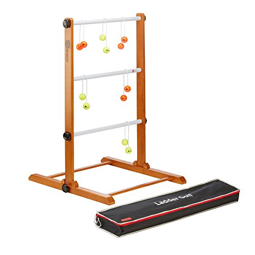Ladder Golf - Fluoro Yellow/Fluoro Orange Bolas - Throwing, Family Fun Game - Garden Games