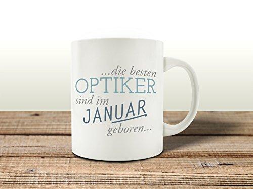 Interluxe Tasse Kaffeebecher DIE Besten Optiker Januar Kollege Geburtstagsgeschenk Geschenkidee