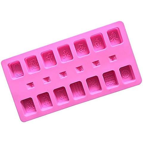 ROUFU molde de cocción,color al azar, molde de cocción, alta temperatura resistente, fácil desmoldeo, piezas de fundición tarjeta de mahjong, chocolate del molde de silicona, galleta, molde de la torta, molde de la pasta de azúcar