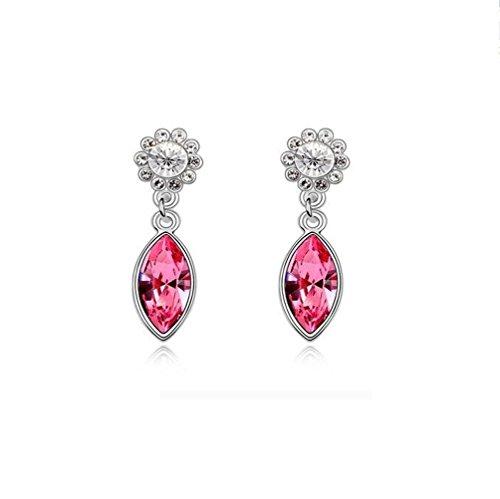 Erica Sparkling cristal autrichien Tournesols Boucles d'oreilles hypoallergénique pink