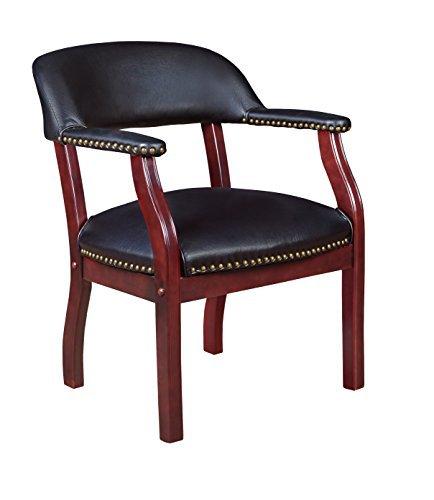 Regency Seating Ivy League Captains Style Vinyl Guest Chair, Black by Regency - Regency Bürobedarf