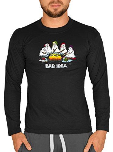 Men Long-Shirt - Bad Idea! Snowmen by BBQ - Weihnachts-Shirt