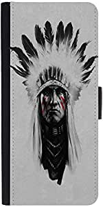 Snoogg Red Indian minimalDesigner Protective Flip Case Cover For Apple Iphone 6s