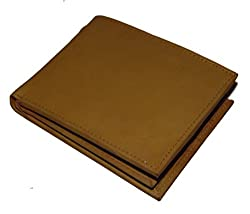 Tan Genuine Handcrafted Leather Bi Fold Mens Wallet By Holboro