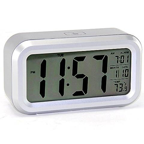 Réveil Soft Touch Rétro éclairé - Température - Ecran grands chiffres