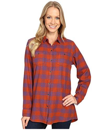 Woolrich Damen Flanell (Woolrich Damen Button-down-Hemd Gr. XS (US Größe) (US Größe), Red Rock Check)