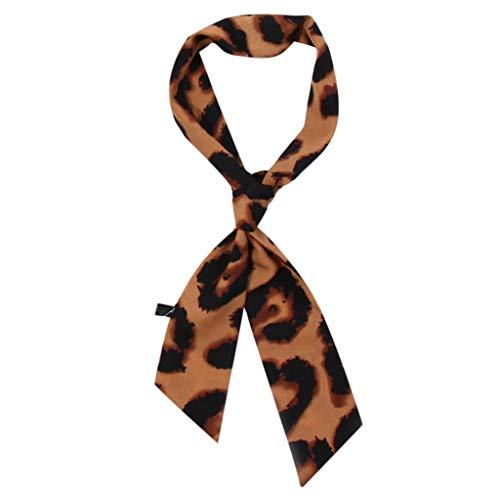 VEMOW Heißer Verkauf Elegante Damen Frauen Leopardenmuster Schal Wrap Schals Weiche Seide Freizeitarbeit Täglich Schal(X2-G, 8X 115CM)