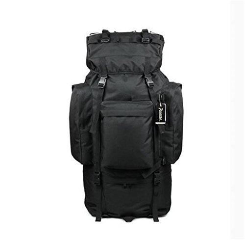 sac à dos randonnée 100l sac à bandoulière sac d'alpinisme sac de Voyage de grande capacité Sacs à dos de randonnée ( Couleur : Noir , taille : 100L )