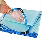 LXLA- Transparente Plane aus Kunststoff mit Ösen, wasserdichtes Regenschutztuch aus Plane - 100g / m² (größe : 4m x 9m)