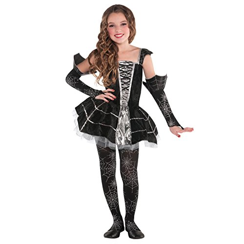 Christy's Girls Childrens Midnight Mischief Costume 4-6 Years Halloween Fancy Dress Outfit Spider Queen Princess of Darkness by Amscan