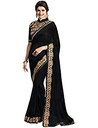 Sarees Below 1500 Rupees Sarees New Collection Partywear Saree 2017 Black Colour Georgette Saree Black Designer...