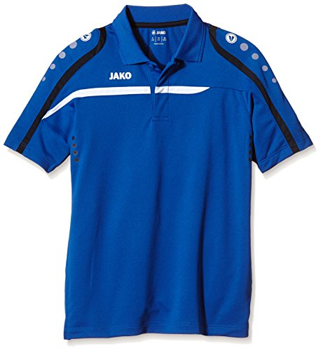 JAKO Kinder Polo Shirt Performance, Royal/Weiß/Marine, 152, 6397 (Champions Polo Performance)