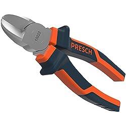 Presch Pince coupante de côté 160 mm - Coupe-câble professionnel trempé pour la découpe de câbles, avec poignée à plusieurs éléments