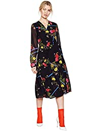 8585823ca88 Studio by Preen Womens Black Floral Ruched  Strobe  Knee Length Wrap Dress