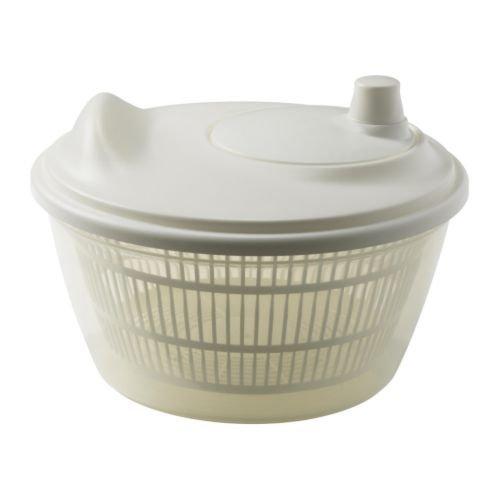 2 XIKEA TOKIG -Salatschleuder weiß
