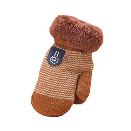 Handschuhe Longra, Niedliche Baby Jungen Mädchen Kleinkind verdicken heiße Gestrickte Winter-warmen Handschuhe(1 bis 4 Jahre) (Kleid Marienkäfer Kleinkind)