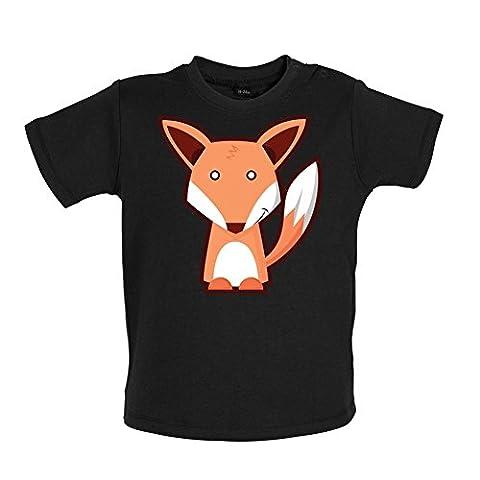 Cute Fox - Baby T-Shirt - Schwarz - 18 bis