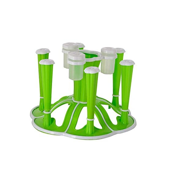 GiveIT2Me ABS Plastic Glass Stand/Tumbler Holder/Glass Holder for Kitchen/Dining Table (Green)