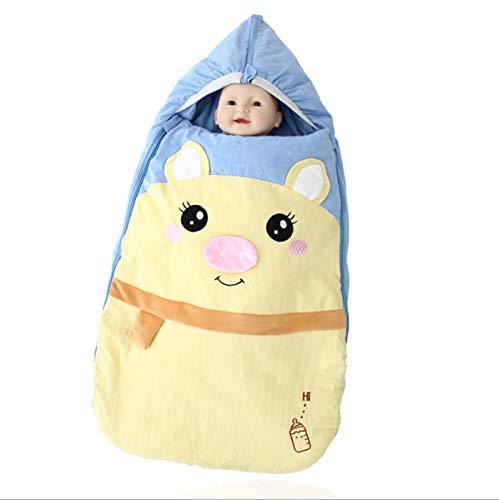 Automne et hiver nouveau-né sac de couchage bébé chaud avec chapeau embrasser épaissie 3,5 Tog sac de couchage 0-36 mois