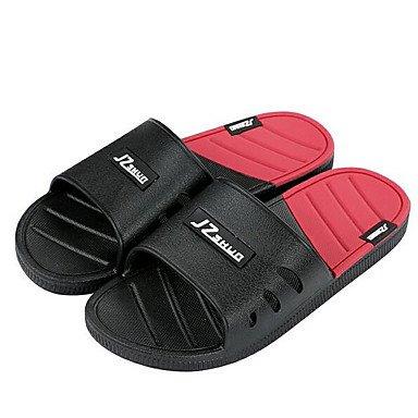 Slippers & amp da uomo;Comodità coppie scarpe di gomma di primavera casual Blushing Rosa Grigio Nero Piatto, sandali Black