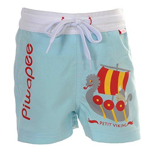 Piwapee-Pantaloncini con strato di Bagno Incastrabile Swim + Anti Fuga BLU CIELO Viking blu azzurro 14-17 KG (24-36M)